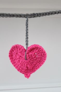 Crochet heart garland...