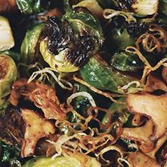 Brussels Sprouts with Shallots and Wild Mushrooms on BigOven: