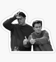 """joey & chandler"" Stickers by swampyak Preppy Stickers, Cute Laptop Stickers, Cool Stickers, Printable Stickers, Cartoon Stickers, Tumblr Stickers, Cenas Teen Wolf, Homemade Phone Cases, Friends Wallpaper"