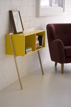 Lacquered rectangular wooden #console table LEAN by And Then Design | #design Frank Flavell