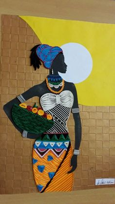 African girl by selviedison Arte Quilling, Quilling Designs, African Girl, African American Art, Black Women Art, Black Art, Afrique Art, African Art Paintings, Art Africain