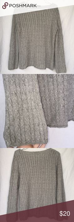 Adrienne Vittadini Sweater Shimmery. Size L Adrienne Vittadini Sweaters