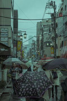 [OC] Rainy Yoyogi-Hachiman (Tokyo)