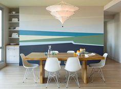 decorazione a righe irregolari per pareti - Arredare una parete vuota, 10 idee da cui prendere spunto | http://bit.ly/arredareparete