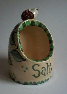 Handmade stoneware hedgehog salt pig/salt holder/hedgie gift/hedgehog gift/animal pottery/hedgehogs/salt holder by DancingHarePottery on Etsy