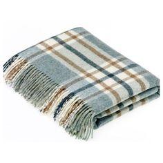 Bronte by Moon Shetland Wool Arncliffe Aqua Throw Blanket