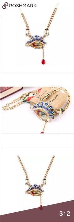 Betsey Johnson eye necklace Nwot Betsey Johnson Jewelry Necklaces
