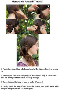 Messy Side Ponytail Tutorial
