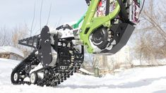 Snowbike kit for the Surron X electric motorcycle from SNOWBIKE LLC. No equivalent in the world. Easy to install on the Surron family of motorcycles. No special skills or tools required. The kit turns the Surron into a lightweight snowmobile. You will be able to use your Surron in winter on snow up to 50 cm deep. Get new emotions from your bike. Bike, Motorcycles, Electric, Snow, Deep, Tools, Winter, Easy, Bicycle