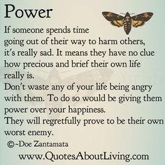 Quotes About Living - Doe Zantamata: Power