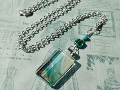 """Floating Free"" Handmade Glass Pendant Necklace by turquoiseeye, £12.20"