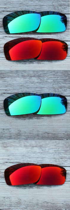 Inew polarized replacement lenses for  Fives Squared green and red