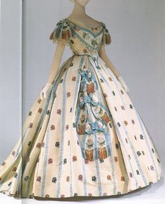 vintage victorian ball gowns | Ball Gown, 1861, American