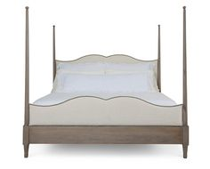 Bernhardt Auberge King Poster Bed with Metal Canopy in Weathered Oak Bed Furniture, Weathered Oak, Poster Bed, Bed, Furniture, Bernhardt Bedroom, Bernhardt Furniture, Upholstered Beds, King Beds