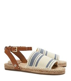 Visit Tory Burch to shop for Stripe Elastic Espadrille Sandal and more  Womens Shoes. Find designer shoes, handbags, clothing & more of this  season's latest ...