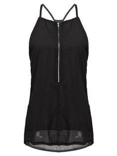 Strappy black vest top
