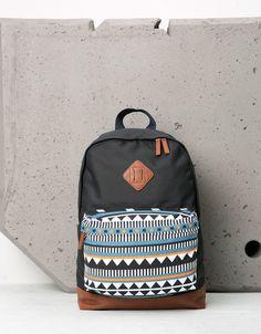 Ethnic print backpack - Backpacks - Bershka Russia
