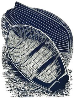 Two Boats - Linocut by James Dodds