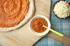 Veggie Heavy Pizza Sauce on Weelicious