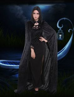 Amazon.com: Halloween Costume Death Wizard Hooded Cape Long Cloak Wrap for Women and Men: Clothing
