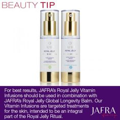 Get the most out of your Royal Jelly Vitamin Infusions! Shop here: http://jafra.me/mnh or join my team! http://jafra.me/mnj