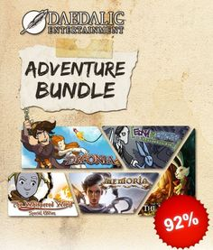 Less than 3 hours left to save 92%  Daedalic Adventure Bundle included :  Deponia Edna & Harvey: Harvey's New Eyes Memoria The Night of the Rabbit The Whispered World Special Edition
