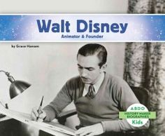 J 921 DIS. Get a glimpse into the life of Walt Disney and his innovative contributions to animation and film.