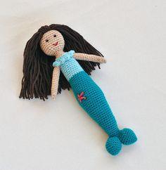 Mermaid Plush Crochet Doll - Little Mermaid Toy For Child
