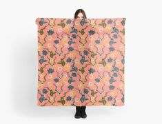 'Kudu & Succulent Abstract' Scarf by Amanda D-Hay Scarf Design, Sell Your Art, Amanda, Succulents, Clothes For Women, Abstract, Clothing, Stuff To Buy, Outerwear Women