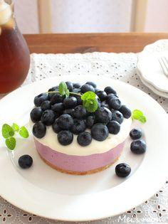 ミキサーで20秒!簡単美味しい^^ブルーベリーレアチーズケーキ ... 簡単美味しい^^ブルーベリーレアチーズケーキ(夏休みのおやつにも)