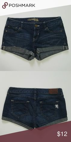 Express Denim Shorts No stains or tears. Size 2, but fit more like a 0. Excellent condition. Express Shorts Jean Shorts