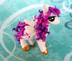 Purple and Pink Valentine Pegasus by DragonsAndBeasties on Etsy