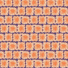 Crazy Daisy Brick fabric by joybucket on Spoonflower - custom fabric