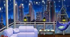 """To download this background, right click on the image (PC) or control click on the image (MAC) and select 'Save Image As."""" Creator: Yuly... Episode Backgrounds, 1st Night, Save Image, Retro, Balcony, Fair Grounds, Cozy, Wallpaper, Building"""