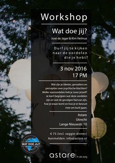 Workshop 'Wat doe jij?' 3 november 2016.  Aanmelden: info@astare.nl