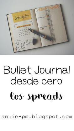 Bullet Journal desde cero: los spreads