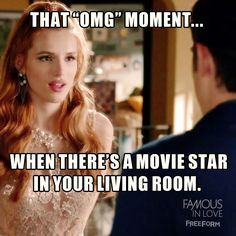"""""""A Star Is Torn"""" - Ya, know. It's life-changing. Famous In Love Freeform, Bella Thorne, Life Changing, Movie Stars, Fandoms, In This Moment, Twitter, Frases, Poems"""
