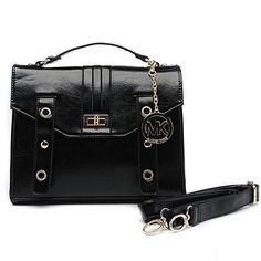Michael Kors Outlet Lock Medium Black Crossbody Bags| Michael Kors Outlet Online