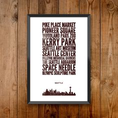 Seattle City Print