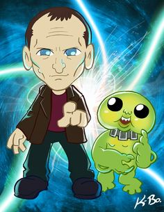 Nine and a Slitheen. :) this is too cute!!