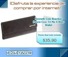 Se la envidia de todos con tu billetera de Kenneth Cole. #ShoppingMall #ComprasEnLinea #TransExpressDeElSalvador Disfruta la experiencia de comprar por Internet ¡Trans-Express te lo trae!