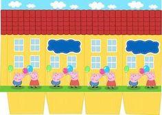 Peppa Pig House Printable. Molde casa da Peppa Pig.