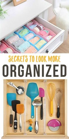 Secrets to Look More Organized: No need to hire a professional organizer. Here are a few secrets to looking like you have it all together (even if you don't)