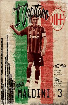 Maldini - Soccer Greats on Behance