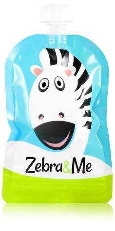 Reusable Food Pouch - Fill with your favorite pureed food - Reuse over and over again Pureed Food Recipes, Zebras, Reuse, Your Favorite, Smoothie, Fill, Pouch, Sachets, Smoothies