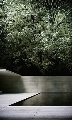 """scandinaviancollectors: """"Ludwig Mies van der Rohe, the Barcelona Pavilion, was the German Pavilion for the 1929 International Exposition in Barcelona, Spain. Demolished 1930 and rebuilt in / Wabisabi-Style """" Space Architecture, Contemporary Architecture, Minimal Architecture, Architecture Panel, Drawing Architecture, Building Architecture, Chinese Architecture, Architecture Portfolio, Futuristic Architecture"""