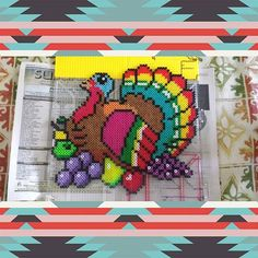 Turkey Thanksgiving perler beads by bothersom