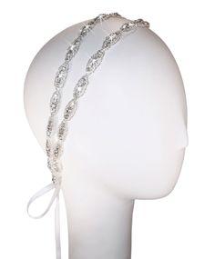 Hanne Double Band Crystal Headband. $90.00, via Etsy.