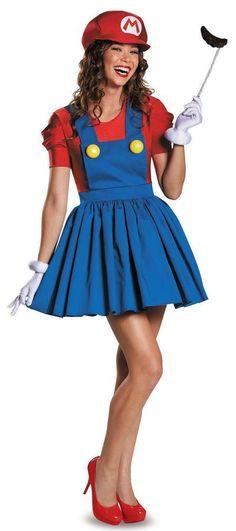 Halloween Frau Super Mario-Br¨¹der Cosplay Kleid M dchen R cke · Disfraz De  Mario Y LuigiDisfraz ... 3fe796413b04