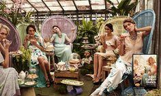 Green house tea party